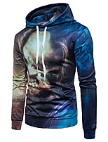 cheap -Men's Daily Sports Casual Chinoiserie Hoodie Print Hooded Micro-elastic Cotton Long Sleeve Spring/Fall
