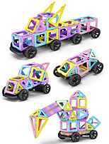 cheap -Magnetic Blocks 488 pcs Transformable Toy Round Car Girls' Boys' Gift