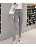 preiswerte -Damen Undurchsichtig Baumwolle Bedruckt Legging,Schwarz Grau