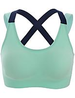 economico -Per donna Reggiseni sportivi Asciugatura rapida per Yoga Corsa Esercizi di fitness Nylon Nero Verde Rosa Grigio S M L XL