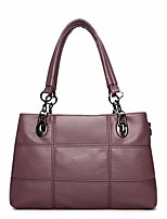 cheap -Women Bags PU Tote Zipper for Outdoor Winter Wine Purple Black Blue