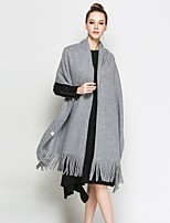 cheap -Sleeveless Cotton Blend Office / Career Party / Evening Tassel Shawls