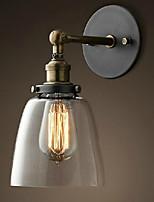 Недорогие -Защите для глаз Простой Винтаж Назначение Гостиная Металл настенный светильник 220 Вольт 40W
