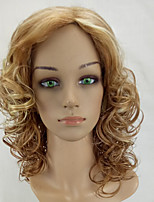 cheap -Women Curly Wigs Heat Resistant Long Blonde Mixed Highlighted Synthetic Hair Wig