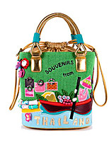 cheap -Women Bags PU Nonwoven Tote Embroidery for Casual All Season Beige Black Green