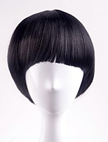 cheap -Synthetic Hair Wigs Straight Capless Natural Wigs Short Black