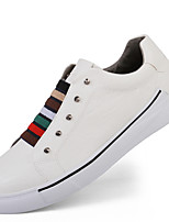 cheap -Shoes Leather Spring Summer Comfort Sneakers for Casual Outdoor White Black Gray