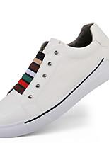 Недорогие -обувь Кожа Весна Лето Удобная обувь Кеды для Повседневные Белый Черный Серый