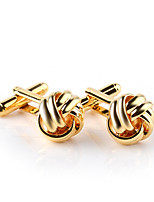 cheap -Floral Pattern Golden Silver Black Cufflinks Alloy Formal Fashion Elegant Wedding Evening Party Men's Costume Jewelry