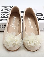 cheap -Girls' Shoes Synthetic Microfiber PU Spring Fall Comfort Flower Girl Shoes Flats Walking Shoes Rhinestone Applique Beading Gore for