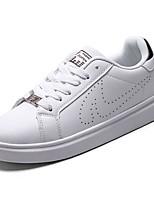 economico -Per uomo Da coppia Scarpe PU (Poliuretano) Primavera Autunno Comoda Sneakers per Casual Grigio Bianco/nero Bianco e verde