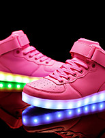 cheap -Girls' Shoes PU Spring Fall Comfort Sneakers LED for Casual Outdoor Pink Blue Black White
