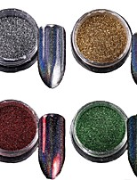 economico -1pc Polvere di glitter Multicolore Nail Art Design