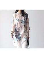 economico -Camicia Da donna Per uscire Vintage Fantasia geometrica Colletto Cotone Maniche lunghe