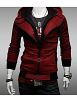 cheap -Men's Daily Hoodie Solid Hooded Micro-elastic Cotton Long Sleeve Spring Fall