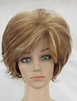 cheap -Women Synthetic Hair Wig Blonde Mixed Short Curly Heat Resistant Layered Wigs