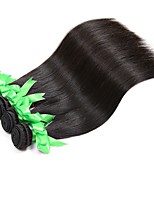 cheap -Brazilian Straight Human Hair Weaves 4 Pieces 0.2