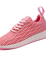 cheap -Women's Shoes Tulle Spring Fall Comfort Sneakers Flat Heel Round Toe for Casual Pink Red Dark Blue Black