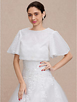 cheap -Short Sleeves Sequins Wedding Party / Evening Women's Wrap With Sequin Shrugs