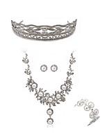 abordables -Femme Tiare Nuptiales Parures Strass Européen Mode Mariage Soirée Imitation Diamant Alliage Forme Géométrique Papillon Bijoux de Corps 1