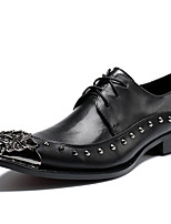 cheap -Men's Shoes Nappa Leather Spring Fall Comfort Formal Shoes Oxfords for Casual Party & Evening Black