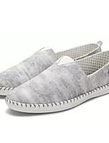 Недорогие -Муж. обувь Ткань Весна Лето Удобная обувь Мокасины и Свитер для Повседневные Серый Синий