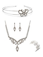 preiswerte -Damen Kopfbedeckung Braut-Schmuck-Sets Strass Europäisch Modisch Hochzeit Party Diamantimitate Aleación Schleifenform Geometrische Form