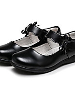 cheap -Girls' Shoes Real Leather Spring Fall Comfort Flower Girl Shoes Flats for Casual Black