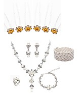 cheap -Women's Hair Sticks Bridal Jewelry Sets Rhinestone Fashion European Wedding Party Imitation Pearl Imitation Diamond Alloy Dream Catcher