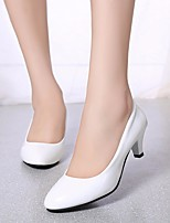 cheap -Women's Shoes PU Spring Fall Basic Pump Heels Stiletto Heel Round Toe for Casual White Beige Pink