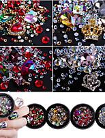 preiswerte -Nagel Glitter Luxus Mit Steinen verziert Muster Nagel-Kunst-Design