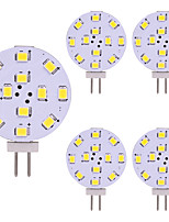 abordables -5pcs 2W 180lm G4 Luces LED de Doble Pin 12 LED SMD 2835 Luces LED Blanco Cálido Blanco Fresco 2800-3500;5000-6500