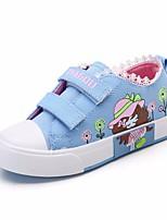 Недорогие -Девочки обувь Полотно Весна Осень Удобная обувь Кеды для Повседневные Красный Синий Розовый