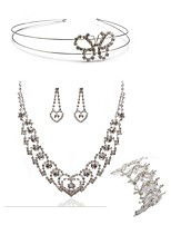 cheap -Women's Headwear Bridal Jewelry Sets Rhinestone Fashion European Wedding Party Imitation Diamond Alloy Butterfly Body Jewelry 1 Necklace