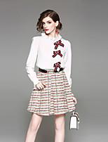 cheap -Women's Sexy Street chic Shirt Print Skirt