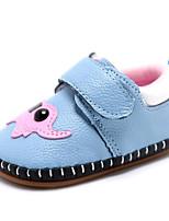 Недорогие -Дети обувь Кожа Весна Осень Удобная обувь Обувь для малышей На плокой подошве для Повседневные Белый Синий Розовый