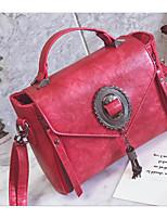 economico -Donna Sacchetti PU (Poliuretano) Borsa a tracolla Bottoni Nappa per Casual Primavera Autunno Rosso Rosa Grigio Marrone Cachi