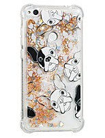cheap -Case For Huawei P8 Lite (2017) P10 Lite Shockproof Flowing Liquid Pattern Back Cover Dog Soft TPU for P10 Lite P8 Lite (2017)