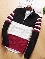 preiswerte -Herrn Übergrössen Pullover-Einfarbig Rollkragen