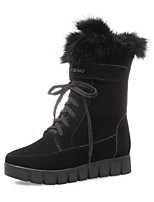 cheap -Women's Shoes Fleece Winter Fall Snow Boots Fashion Boots Boots Flat Heel Round Toe Booties/Ankle Boots Mid-Calf Boots for Casual Office
