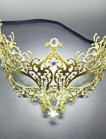 cheap -Carnival Venetian Mask Masquerade Mask Golden Metal Cosplay Accessories Masquerade