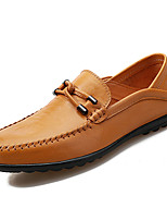 cheap -Men's Shoes Nappa Leather Spring Fall Moccasin Loafers & Slip-Ons for Outdoor Black Yellow Brown
