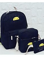 preiswerte -Taschen Leinwand Bag Set 3 Stück Geldbörse Set Muster / Druck für Normal Winter Herbst Rosa Dunkelblau Hellgrün Himmelblau Khaki