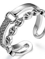 preiswerte -Damen Bandringe Stulpring Formell Einfach Klassisch Elegant Kupfer Schmuck Hochzeit Party Verlobung Geschenk Zeremonie Valentinstag