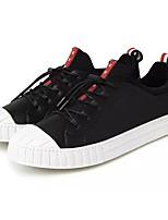 preiswerte -Herren Schuhe PU Frühling Herbst Komfort Sneakers für Normal Schwarz Rot Blau