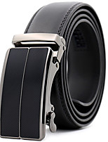 cheap -Men's Genuine Leather Waist Belt,Black Party Work Casual Striped Modern Style Stylish