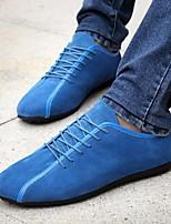 preiswerte -Herrn Schuhe Wildleder Frühling Herbst Komfort Sneakers für Normal Schwarz Dunkelblau Blau