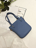 cheap -Women Bags PU Tote Buttons Tassel for Casual All Season Wine Brown Gray Black Blue