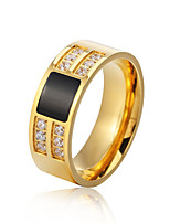 cheap -Men's Band Rings Rhinestone Casual Fashion Stainless Steel Circle Jewelry Formal Office & Career