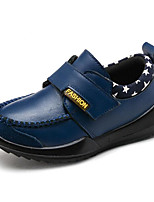 cheap -Boys' Shoes Real Leather Spring Fall Comfort Loafers & Slip-Ons for Casual Blue Yellow Black